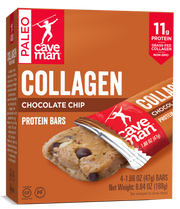 4 pack - Chocolate Chip Collagen Bars
