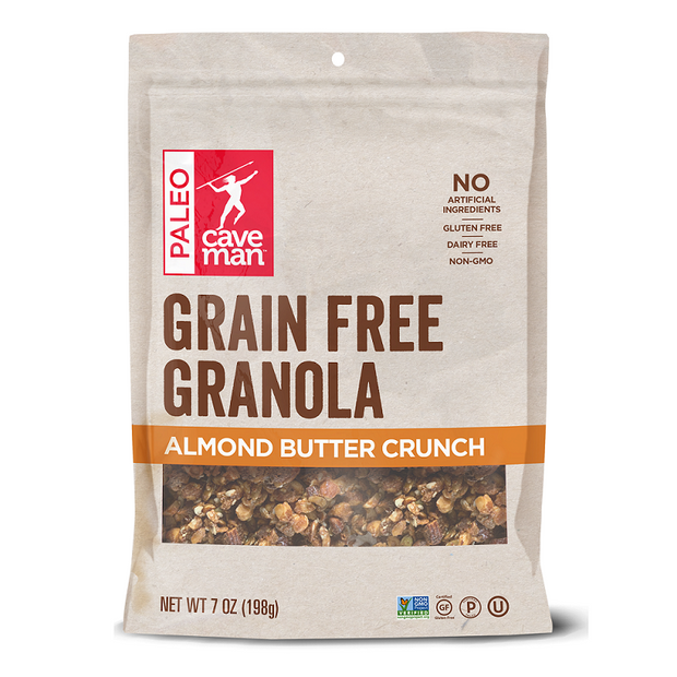 Almond Butter Grain Free Crunch is the perfect snack or breakfast cereal.