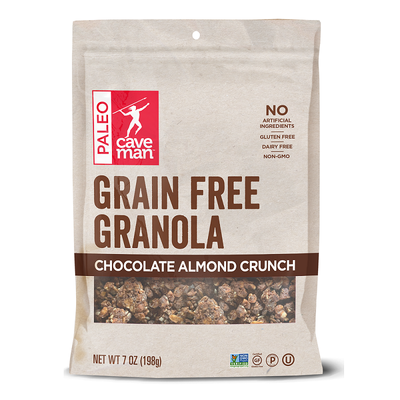Grab a handful of Chocolate Almond Grain Free Granola Crunch .