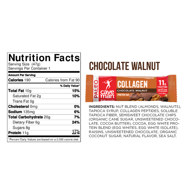 Chocolate Walnut Collagen Bars