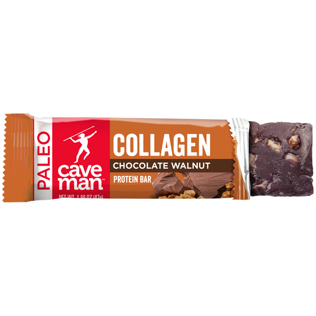 The Chocolate Walnut Collagen Bar has 11g of protein.