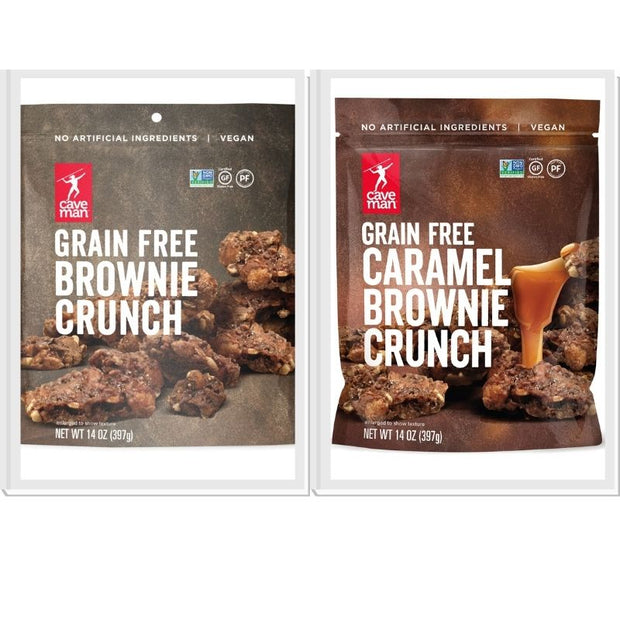 Brownie Crunch 2-Flavor Combo -- Chocolate and Caramel (2 bags)
