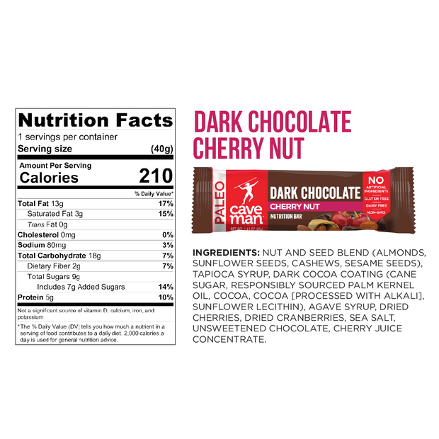 Dark Chocolate Cherry Nut Nutrition Bars - Upsell
