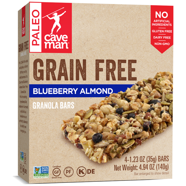 Blueberry Almond Grain Free Granola Bars