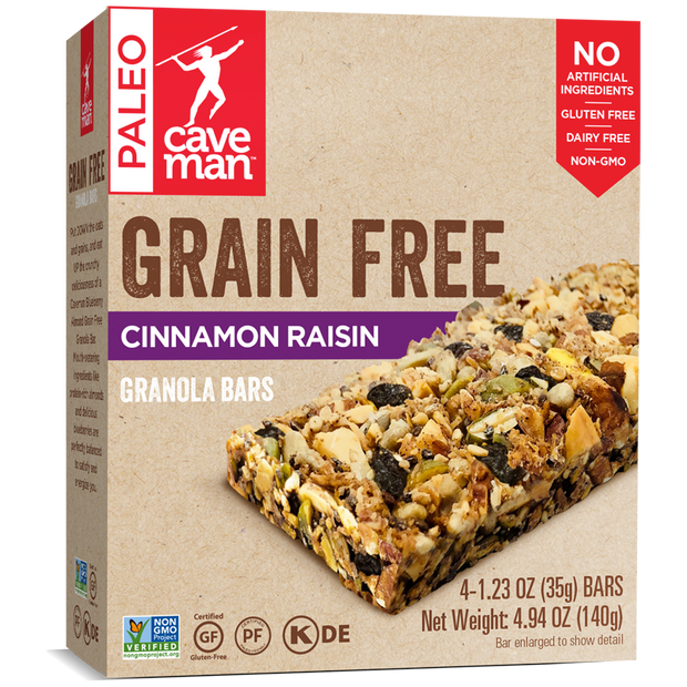 Cinnamon Raisin Grain Free Granola Bars - 18 count (old)
