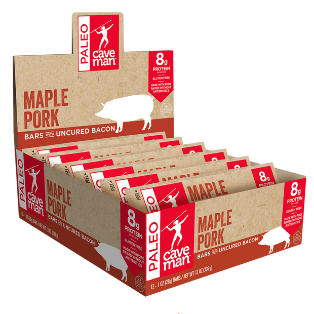 Share a 12-count snack pack of delicious clean paleo meat bars.
