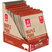 Share a protein packed snack on-the-go like our Maple Pork Bites.