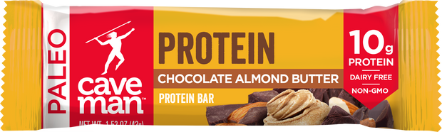 Indulge with our delicious Chocolate Almond Butter Protein Bar.