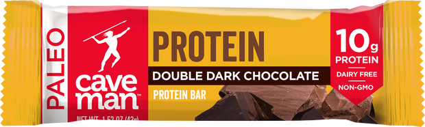 Double the deliciousness with our Dark Chocolate Protein Bar.
