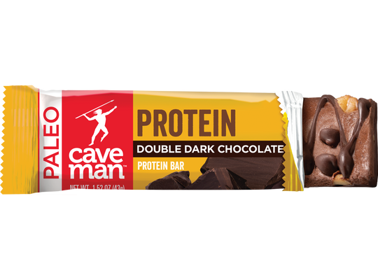 Made with 10g of complete protein and dark chocolate.