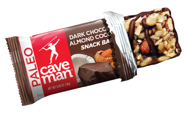 Snack on a gluten-free bar made with clean ingredients like our Dark Chocolate Almond Coconut Minis.