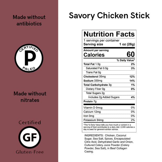 Savory Chicken Meat Sticks