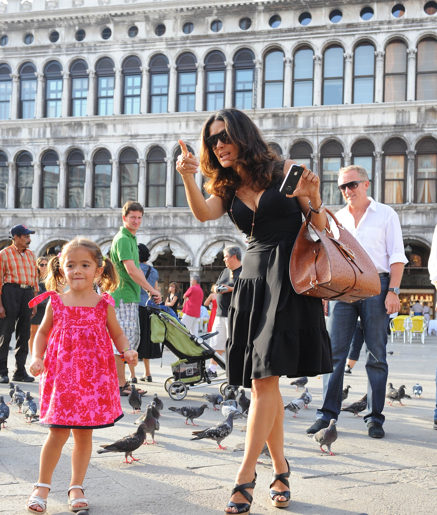 Salma Hayek with daughter Valentina Paloma Pinault in Venice wearing Redfish Kids #Stmarkssquare #venice #salmahayak #valentinahayak #francoishenripinault #celebritykids #Valentinapalomapinault #Stmarkssquare #venice #salmahayak #valentinahayak #francoishenripinault #celebritykids #Valentinapalomapinault