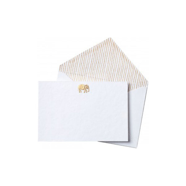 Gold Thank You Note Card Elephant