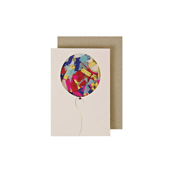 Balloon Confetti Card