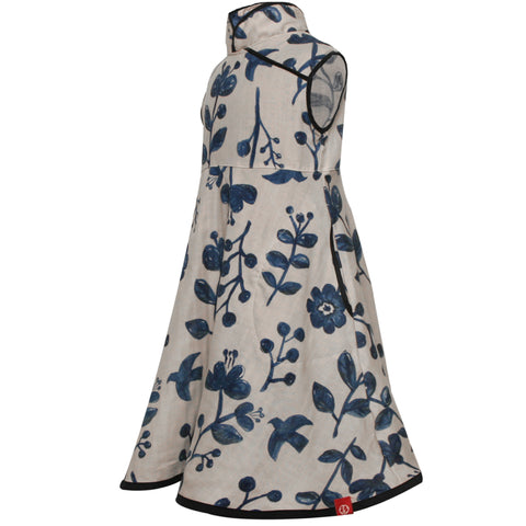 Mandarin Swing Dress SS19 Blue Morning Glory
