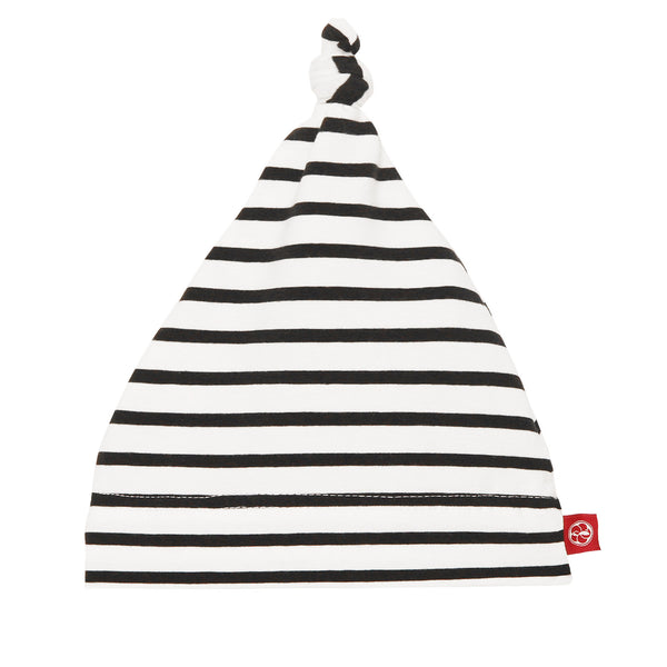 Baby Beanie Black and White Stripe
