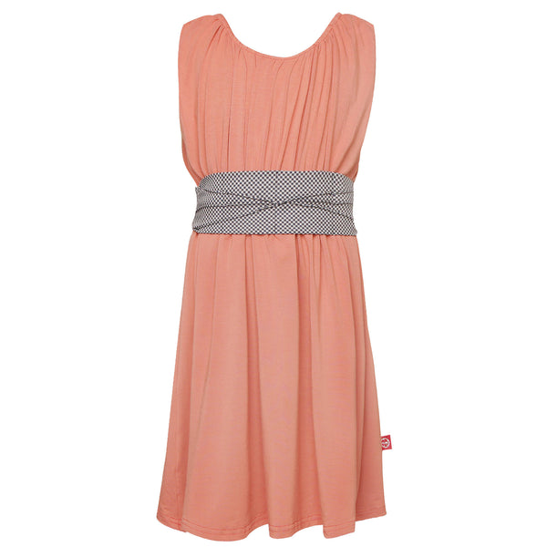 Mona Dress Ballet Pink with Patterned Cummerbund