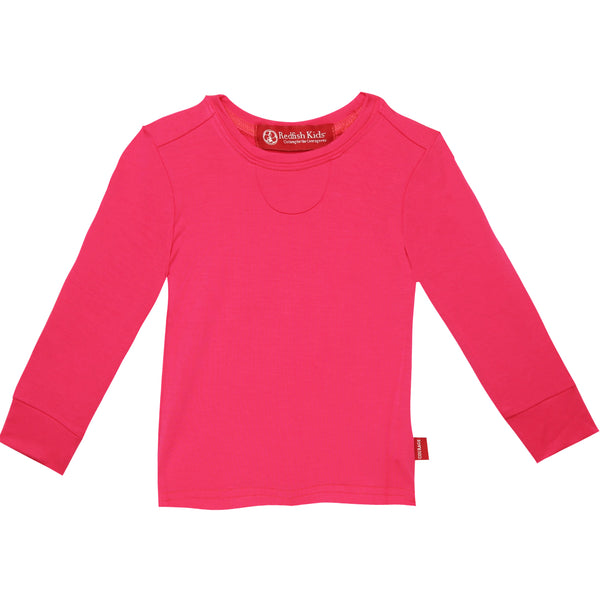 Baby Lang Long Sleeve Fuchsia