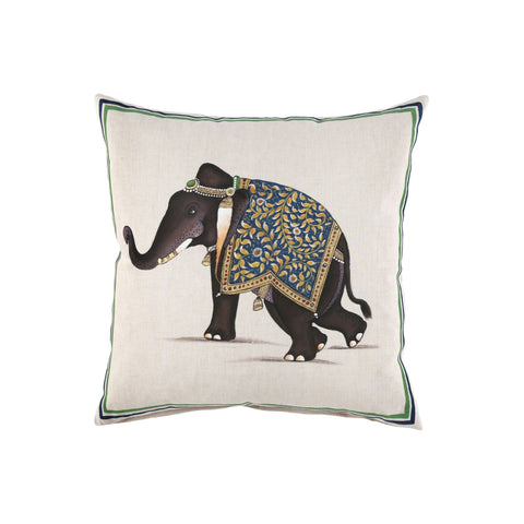 Indian Elephant Decorative Pillow 20x20