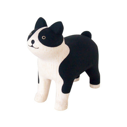 Wooden Animal Boston Terrier