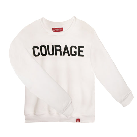 #Courage Collection: Courage Adult Sweatshirt White