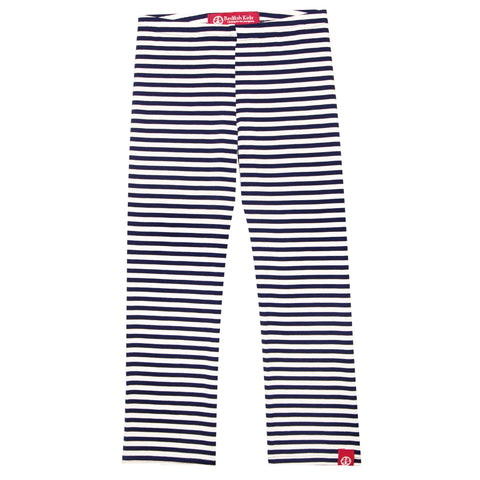 Navy and White Stripe Leggings