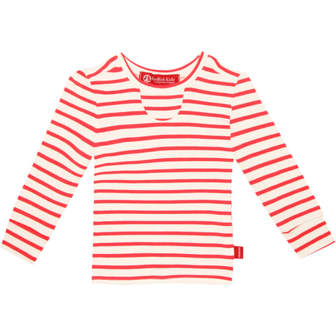 Baby Lang Long Sleeve Cardinal Stripe