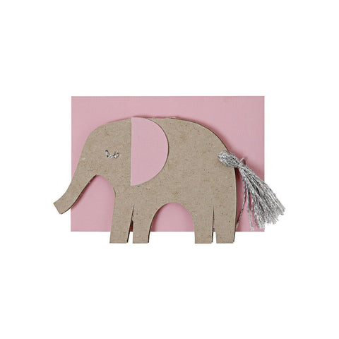 Elephant Baby Girl Card