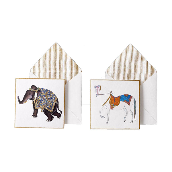 Printed Animal Horse Card Set (Set of 6)
