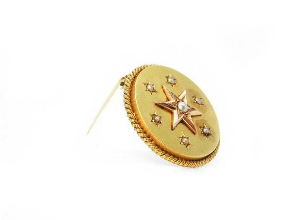 Antique Brooch with Pearls