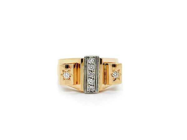 Art Deco Ring with Diamonds