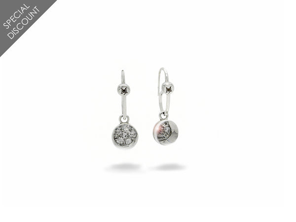 Earrings with Diamonds and Quartz