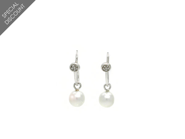 Earrings with Diamond & Pearl