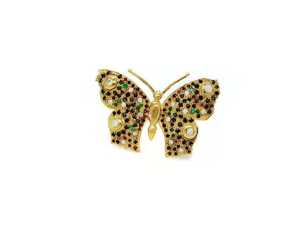 Brooch with Gemstones
