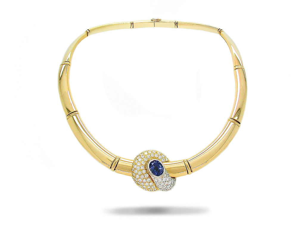 Necklace with Sapphire & Diamond designed by Peter Quijo