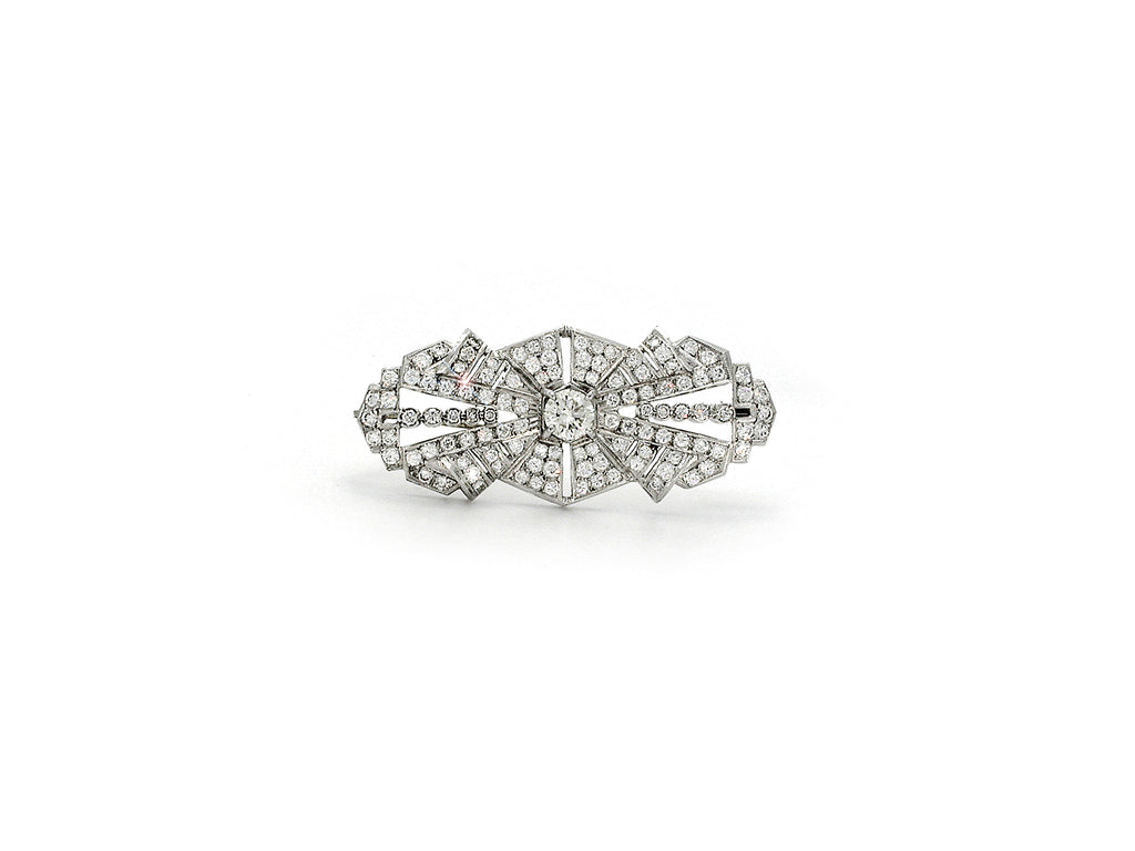 Vintage Platinum & Diamond Brooch