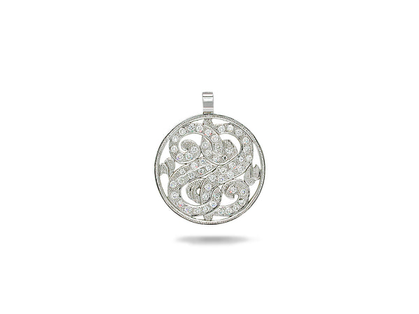 White Golden Diamond Pendant