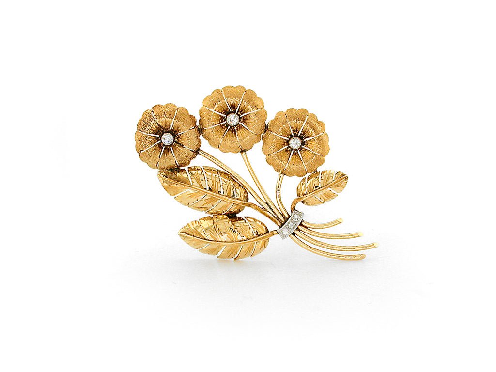 Vintage Brooch with Diamond