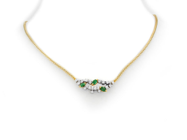 Necklace with Diamond & Emerald