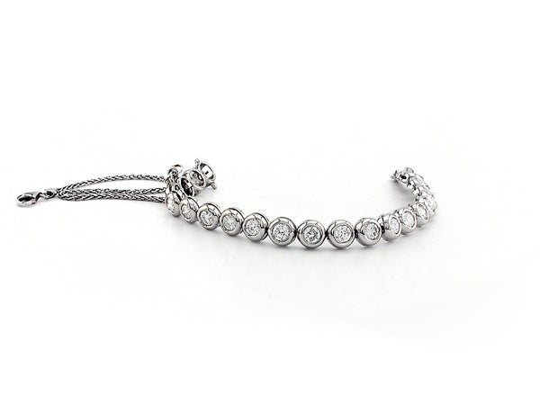 Single Line Bracelet with Diamond