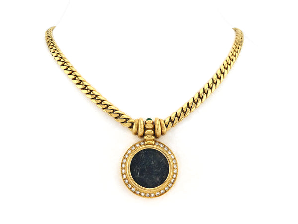 Necklace with Diamond & Antique Coin