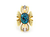 Vintage Brooch/Pendant with Turquoise & Diamant