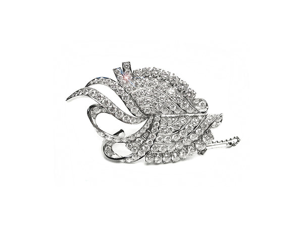 Vintage Brooch with Diamonds