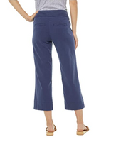 Worlds Best Cropped Wide Leg Cotton Pull On Pant w/ Patch Pocket