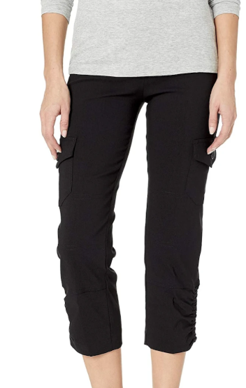Worlds Best Pull On Crop Pant with Cargo Pocket and Rouched Hem Detail