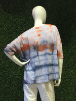 Cindi's Exclusive Hand Made Tie Dye Short Sleeve Planet Tee B