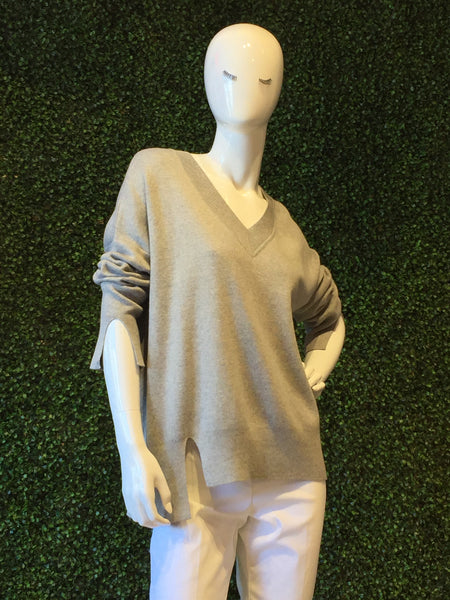 Planet V-Neck Sweater w/ Slit
