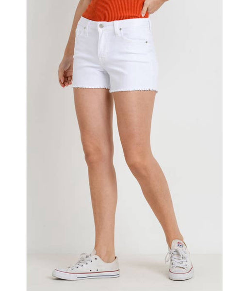 Letter to Juliet Snipped Hem Jean Shorts