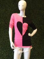Angel Lightweight 3/4 Sleeve Heart Sweater